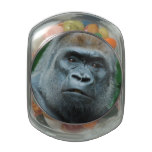 Perplexed Gorilla Glass Candy Jar