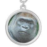 Perplexed Gorilla Silver Plated Necklace