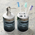 Perplexed Gorilla Soap Dispenser & Toothbrush Holder