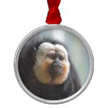 Saki Monkey Metal Ornament